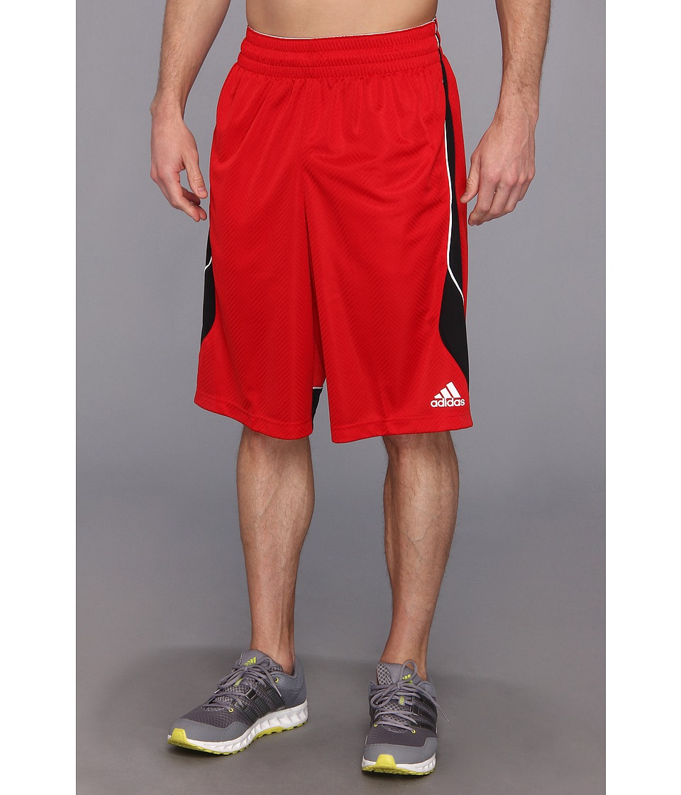 adidas - Crazy Smooth Short (Light Scarlet/Black) Men's Shorts