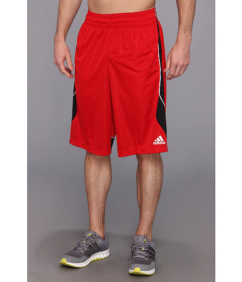 adidas - Crazy Smooth Short (Light Scarlet/Black) Men's Shorts