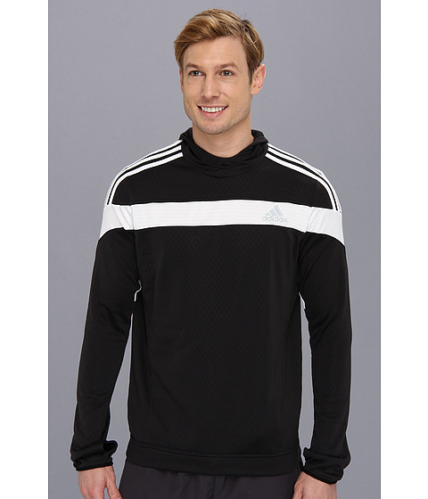 adidas - Response Icon Hoodie (Black/White) Men's Sweatshirt