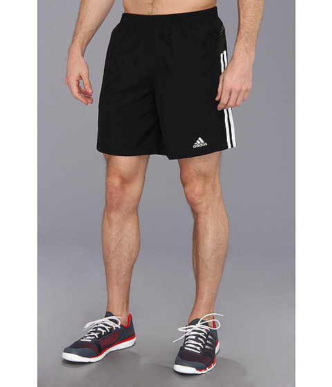 adidas - Response 7 Short (Black/White) Men's Workout