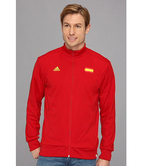 adidas - Spain Track Top (University Red) Men's Clothing
