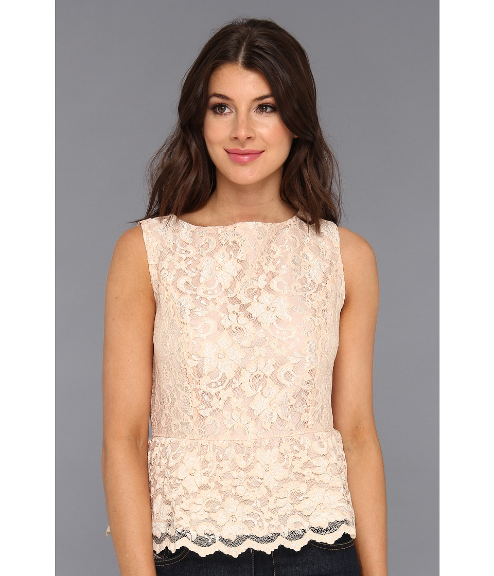 Michael Stars - Scallop Lace Tank With Peplum (Champagne) Women