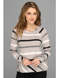 SALE! $54.99 - Save $33 on Michael Stars Wanderlust Stripe Long Sleeve Raglan Sweatshirt (Abalone) Apparel - 37.51% OFF $88.00