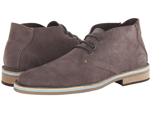 Armani Jeans Suede Chukka (Grey) Men's Lace up casual Shoes