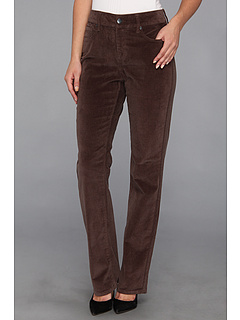 SALE! $56.99 - Save $47 on NYDJ Marilyn Straight Leg Stretch Corduroy (Smokey Taupe) Apparel - 45.20% OFF $104.00