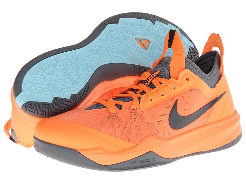 Nike - Nike Zoom Crusader (Atomic Orange/Cool Grey/Glacier Ice/Anthracite) Men's Basketball Shoes