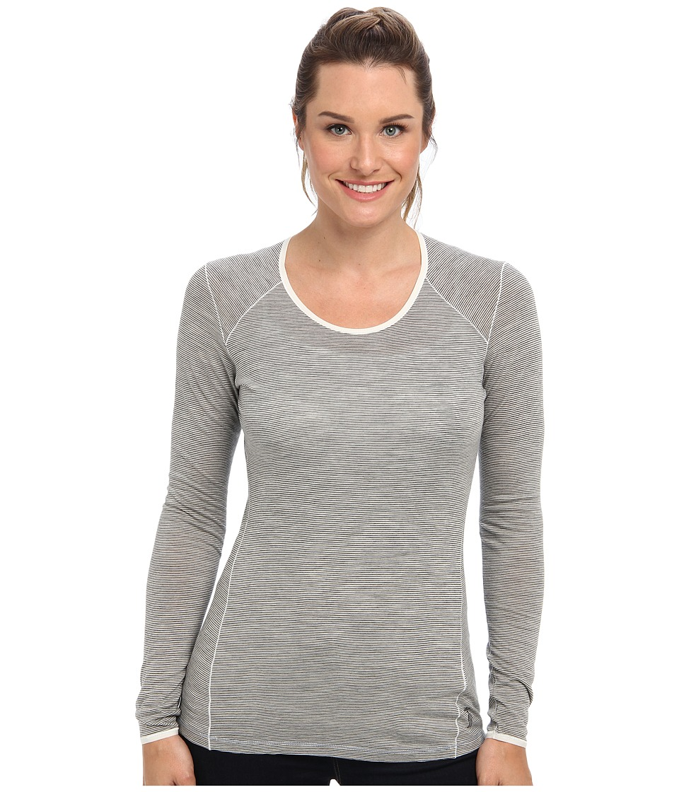 Smartwool - NTS Micro 150 Pattern Crew (Silver/Grey Heather) Women's Long Sleeve Pullover