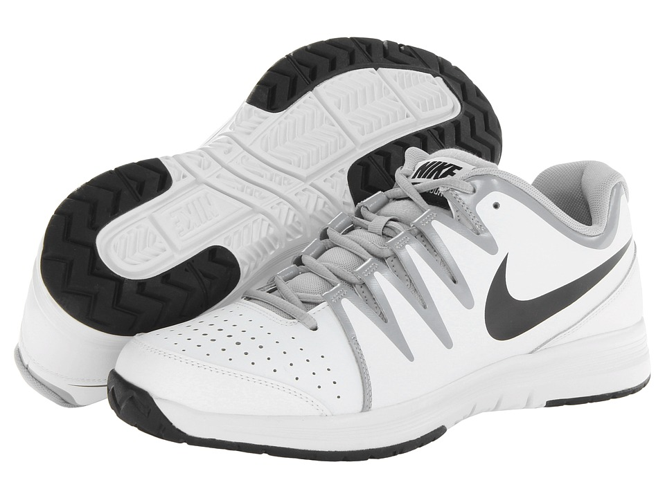 Nike - Vapor Court (White/Wolf Grey/Black) Men's Tennis Shoes
