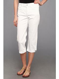 SALE! $26.99 - Save $57 on NYDJ Fiona Mini Roll Cuff Crop in Optic White (Optic White) Apparel - 67.87% OFF $84.00