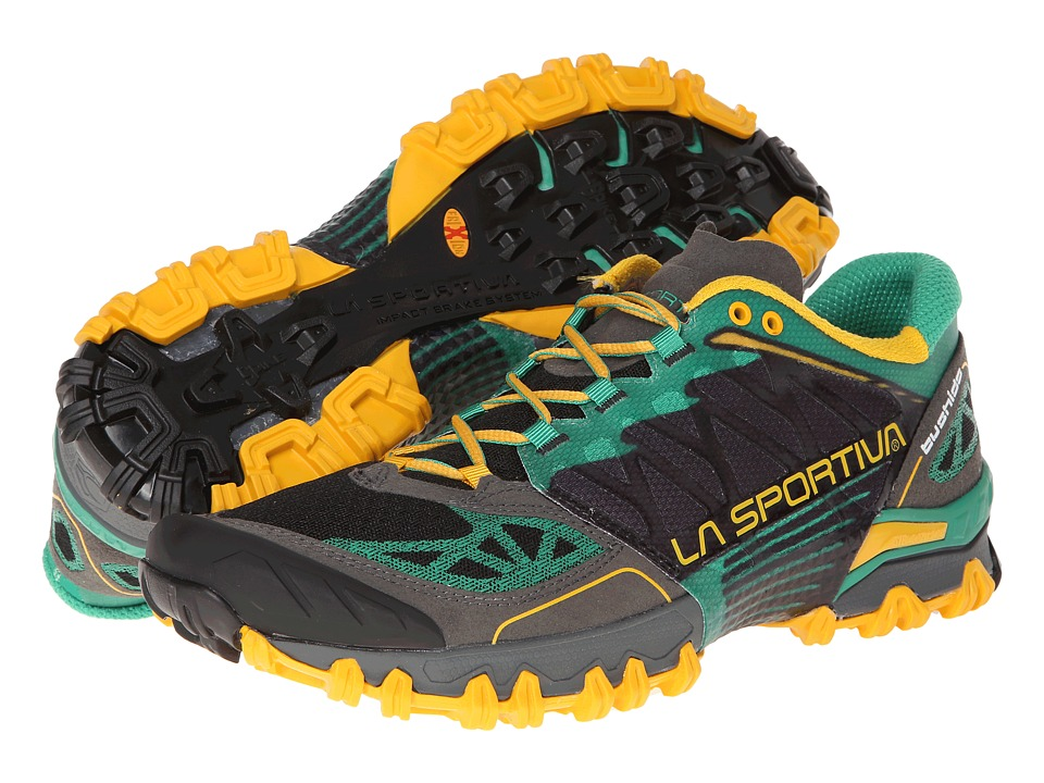 La Sportiva - Bushido (Light Grey/Green Gecko) Men's Running Shoes