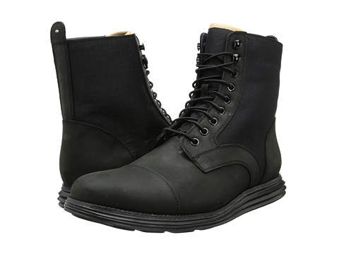 Cole Haan - Lunargrand Lace Boot (Black) Men's Boots
