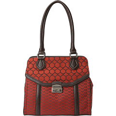 SALE! $46.99 - Save $38 on Nine West Mod Mix 9 Jaquard Medium Tote (Dark Hot Orange) Bags and Luggage - 44.72% OFF $85.00