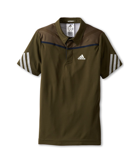 adidas Kids - Adizero Polo (Little Kids/Big Kids) (Earth Green/White) Boy's Short Sleeve Pullover