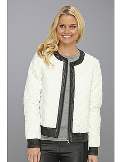 SALE! $91.99 - Save $172 on Townsen Quilted Denim Jacket (White Denim) Apparel - 65.16% OFF $264.00
