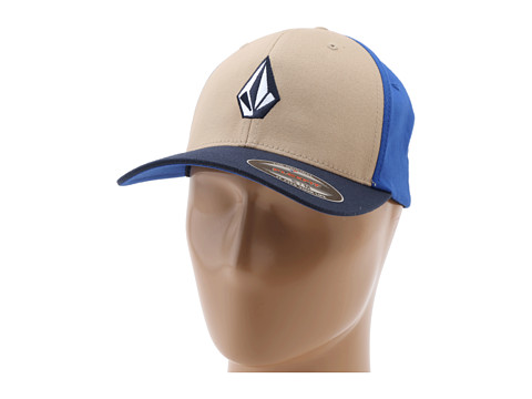 Volcom - Full Stone X-Fit FlexFit (Khaki) Baseball Caps