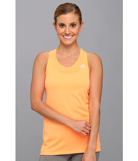 adidas - Clima Chill Tank Top (Glow Orange) Women's Sleeveless