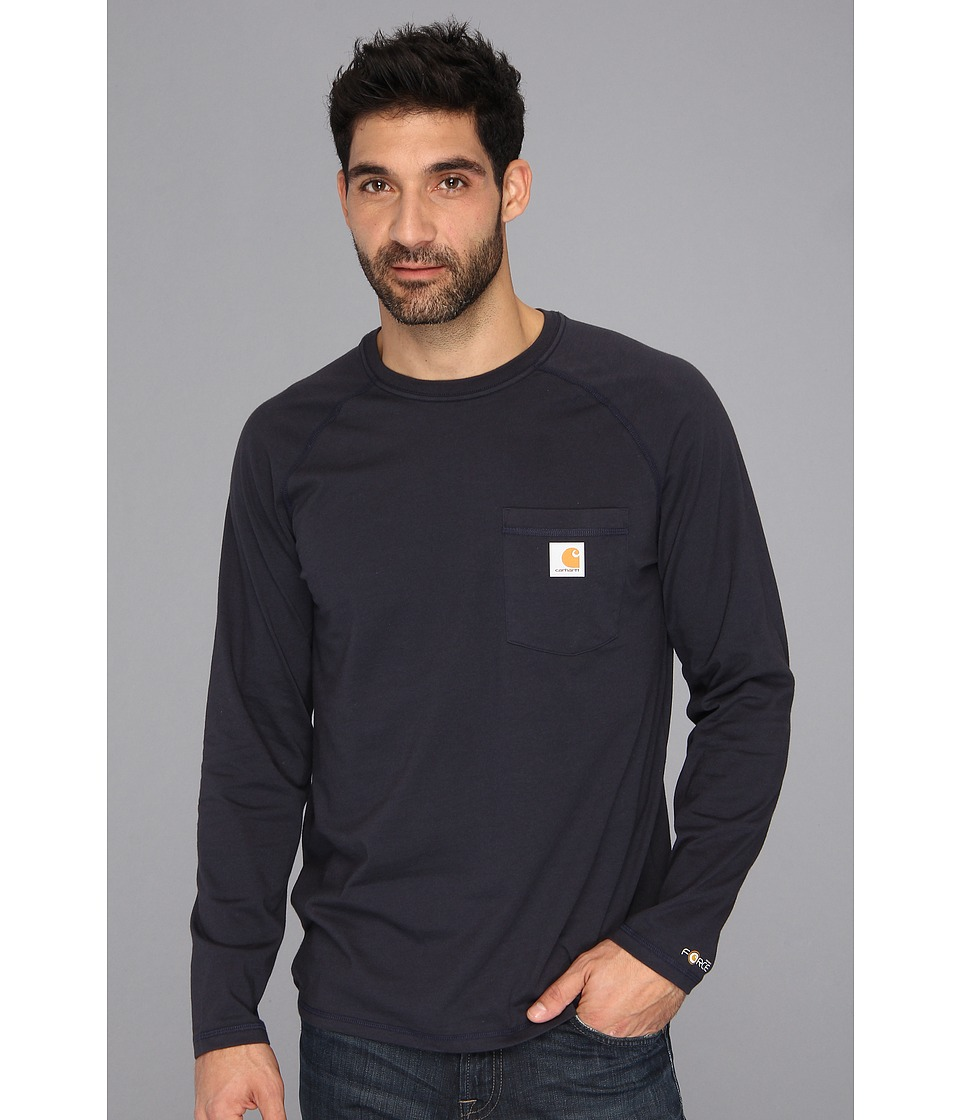 Carhartt - Big Tall Force Cotton L/S Tee (Navy) Men
