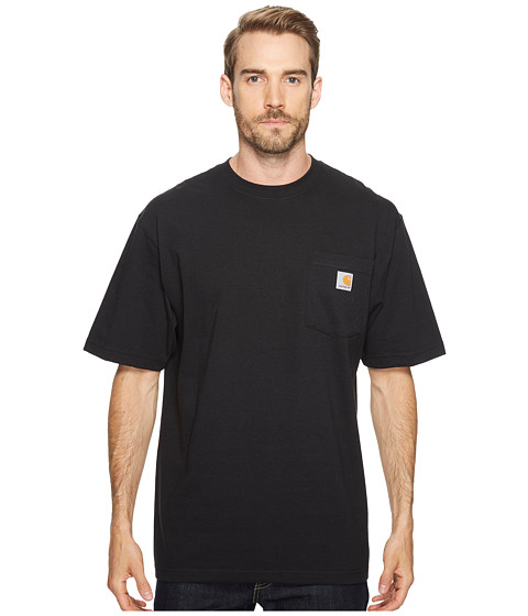 Carhartt - Big Tall Workwear Pocket S/S Tee (Black) Men's Short Sleeve Pullover