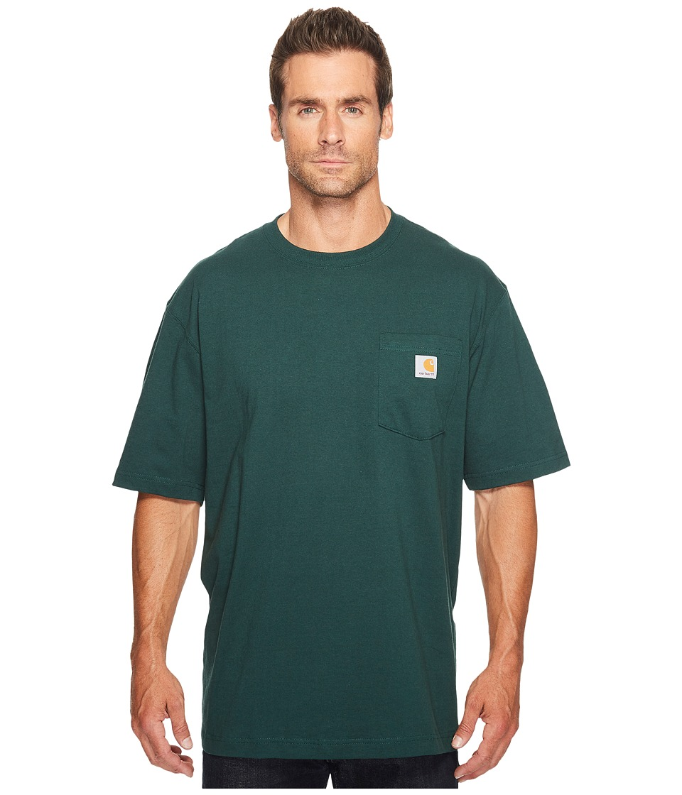 Carhartt - Big Tall Workwear Pocket S/S Tee (Hunter Green) Men's Short Sleeve Pullover
