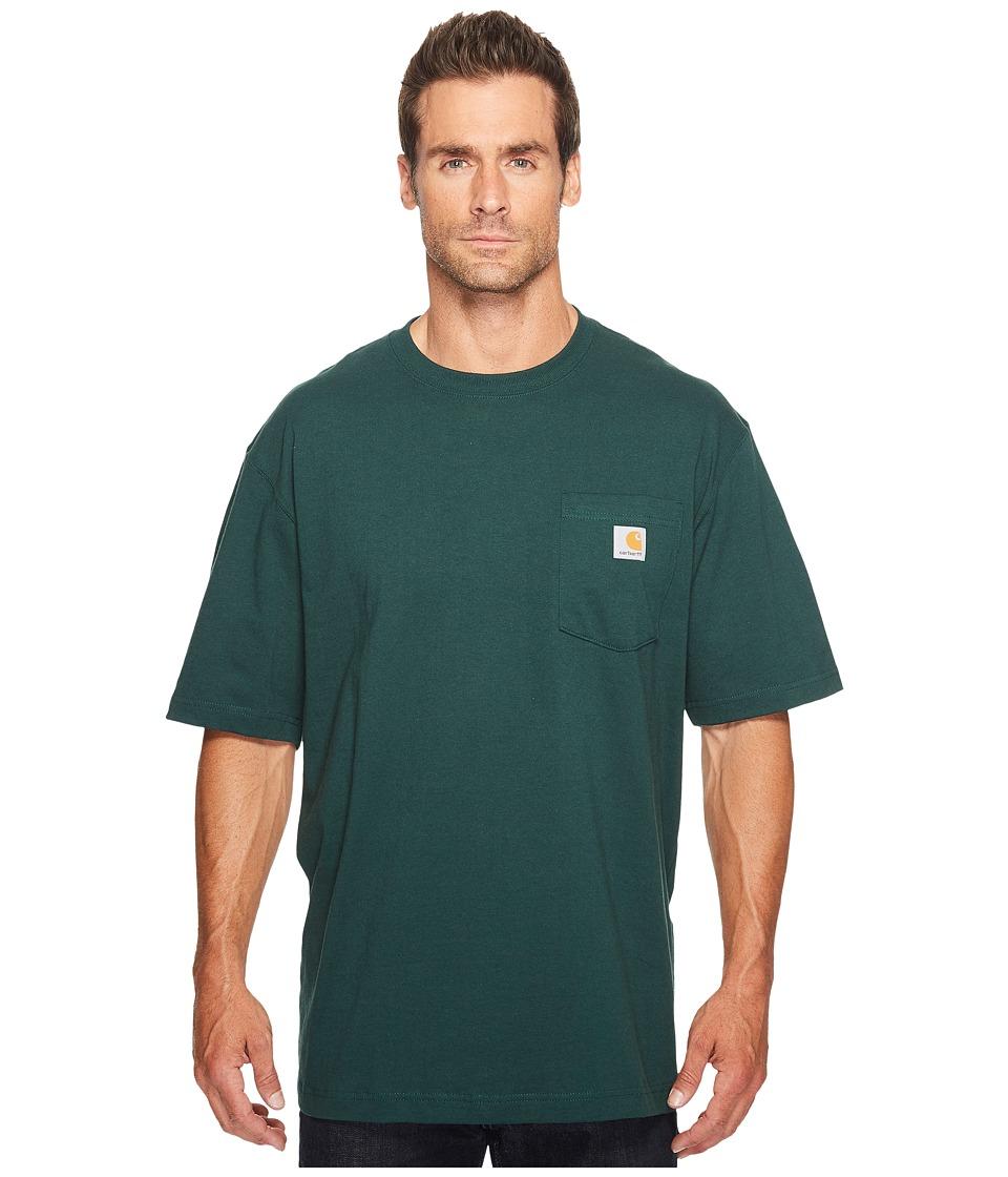 Carhartt - Big Tall Workwear Pocket S/S Tee (Hunter Green) Men's Short Sleeve Pullover