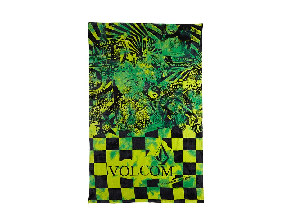 Volcom - Print Towel (Green) Bath Towels