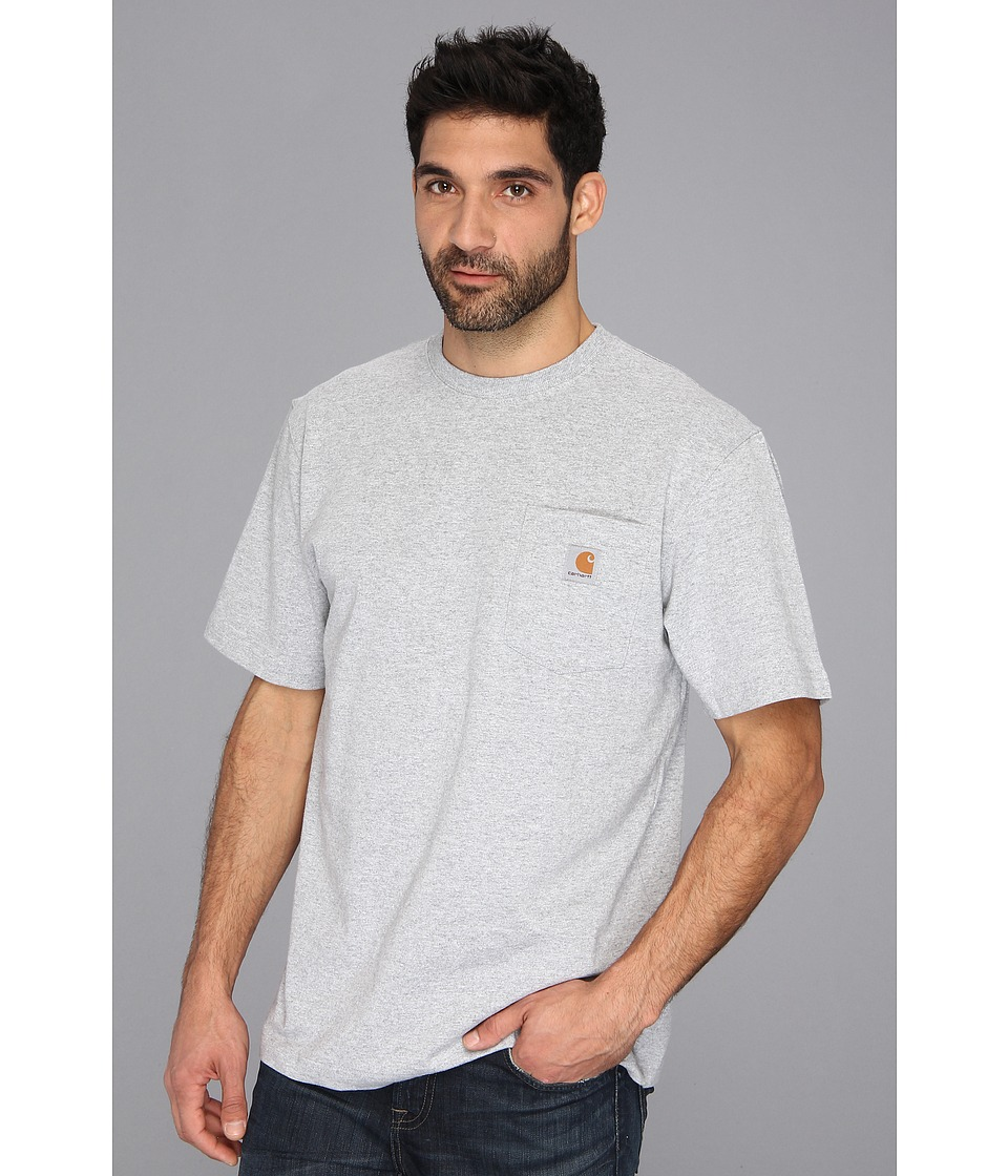 Carhartt - Workwear Pocket S/S Tee - Tall (Heather Gray) Men's T Shirt