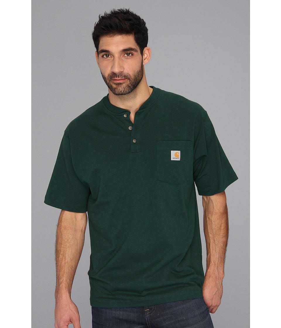 Carhartt - Big Tall Workwear Pocket S/S Henley (Hunter Green) Men's Short Sleeve Pullover