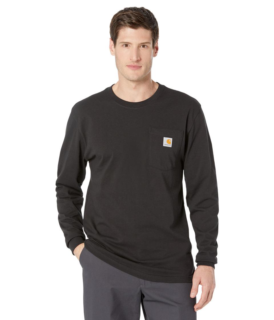 Carhartt - Workwear Pocket L/S Tee (Black) Men's Long Sleeve Pullover