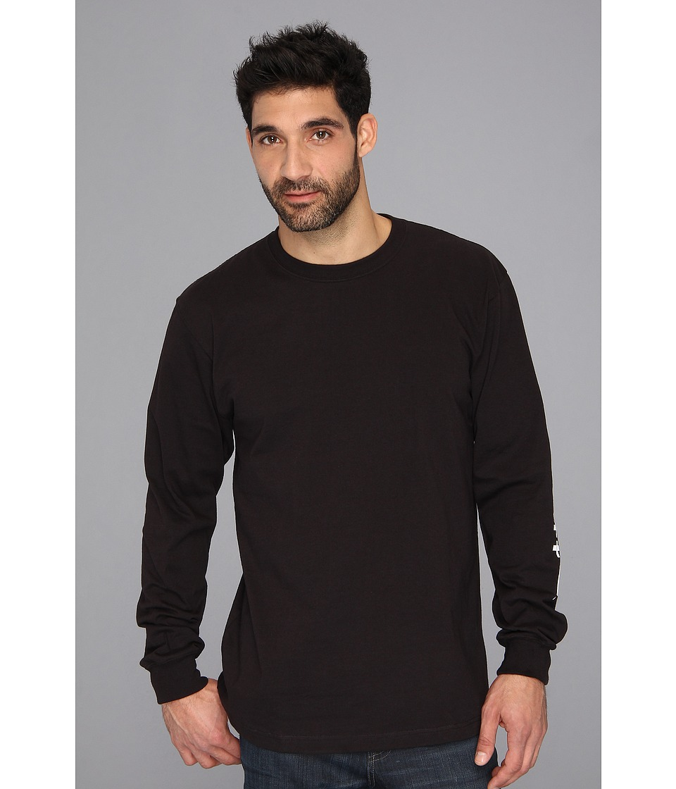 Carhartt - Signature Sleeve Logo L/S Tee (Black) Men's T Shirt
