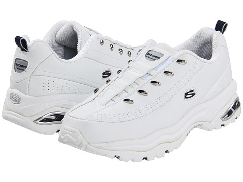 SKECHERS - Premix (White With Navy) Women