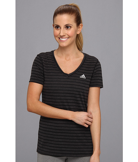 adidas - Ultimate S/S Tee (Black Yarn Dye/Matte Silver) Women