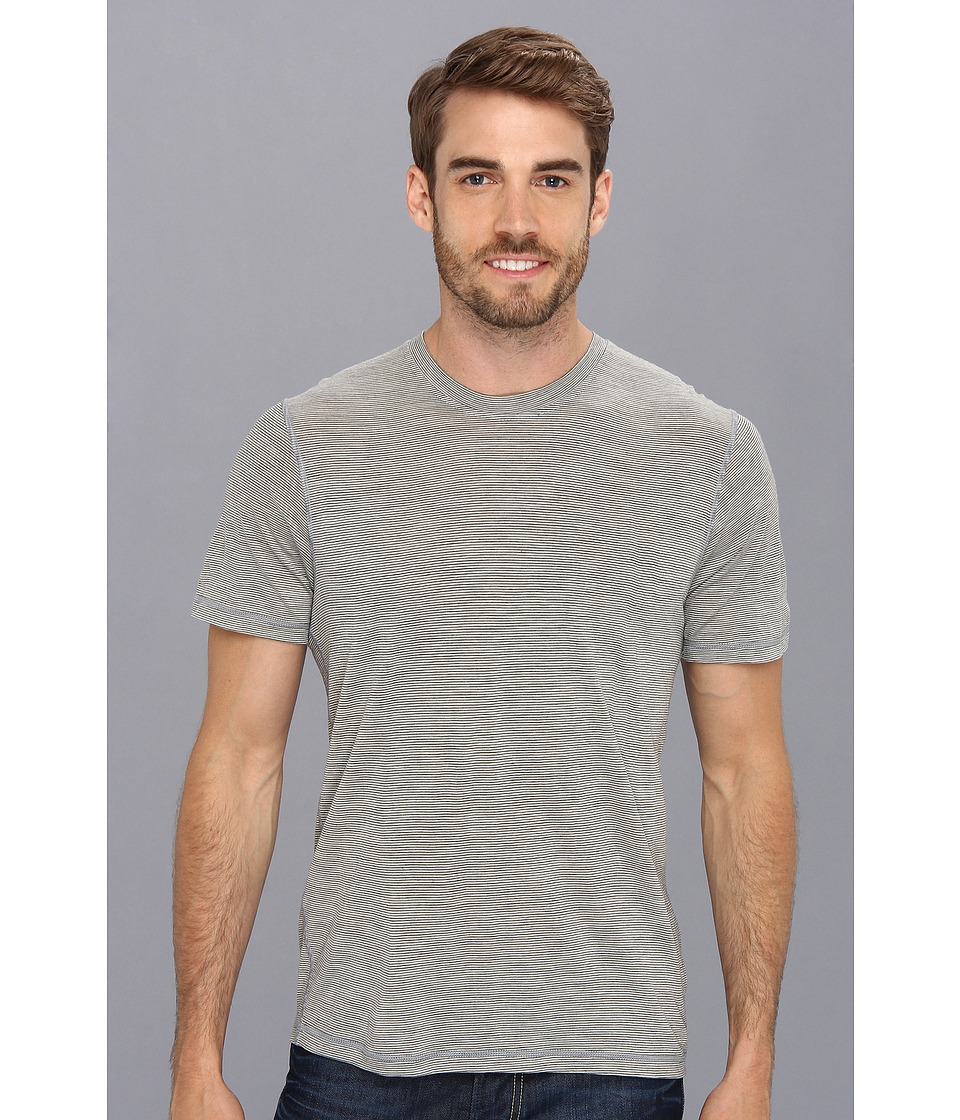 Smartwool - NTS Micro 150 Pattern Tee (Silver/Gray Heather) Men's T Shirt