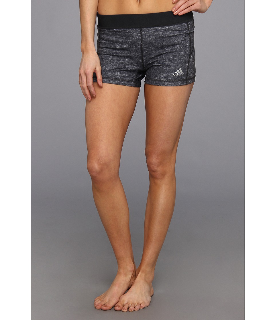 adidas - TechFit 3 Boy Short (Dark Grey Heather/Black) Women's Shorts