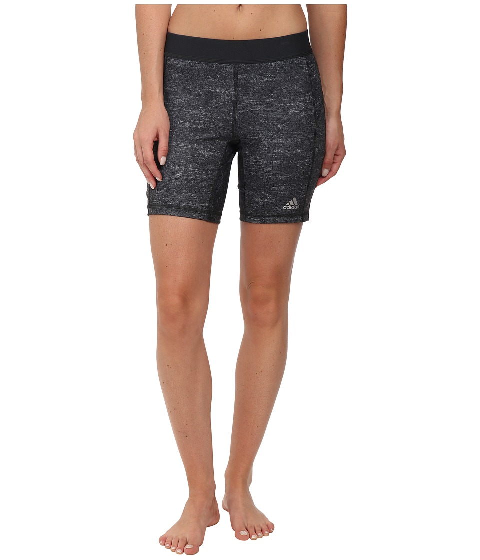 adidas - TECHFIT 7 Boy Short (Dark Grey Heather) Women's Shorts