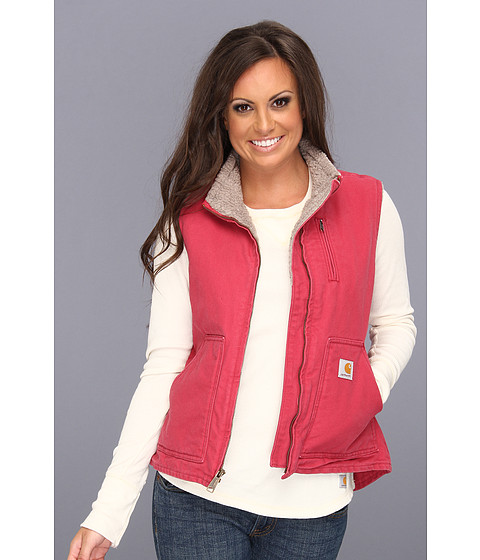 Carhartt - Sandstone Mock Neck Vest (Crab Apple) Women's Vest