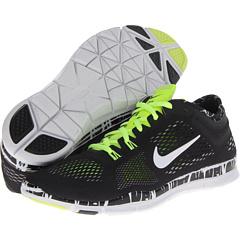 Nike Free 5.0 TR Fit 4 Print (Black/Volt/Dark Grey/White) Women's Shoes