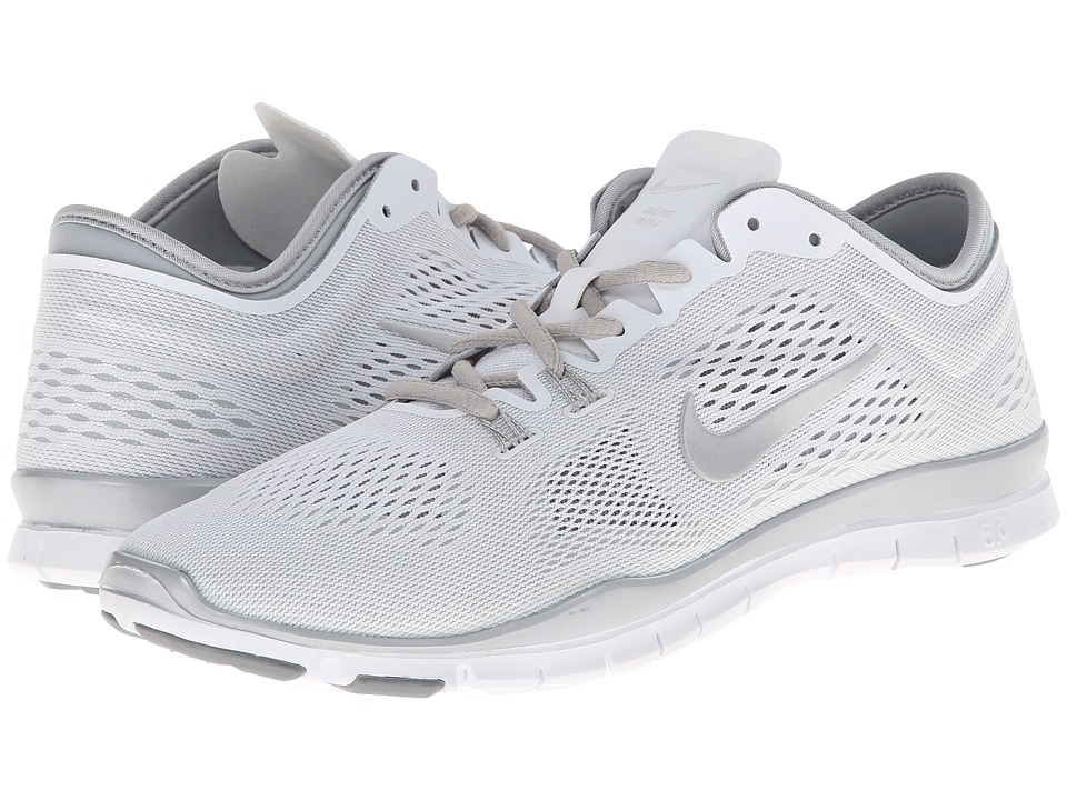 Nike - Free 5.0 TR Fit 4 (White/Metallic Silver/Metallic Silver) Women