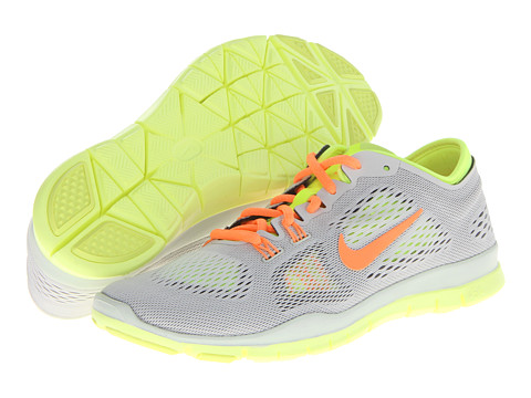 Nike - Free 5.0 TR Fit 4 (Light Base Grey/Atomic Orange/Medium Base Grey/Volt) Women