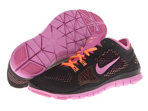 Nike Free 5.0 TR Fit 4 (Black/Atomic Orange/Red Violet) Women's Running Shoes