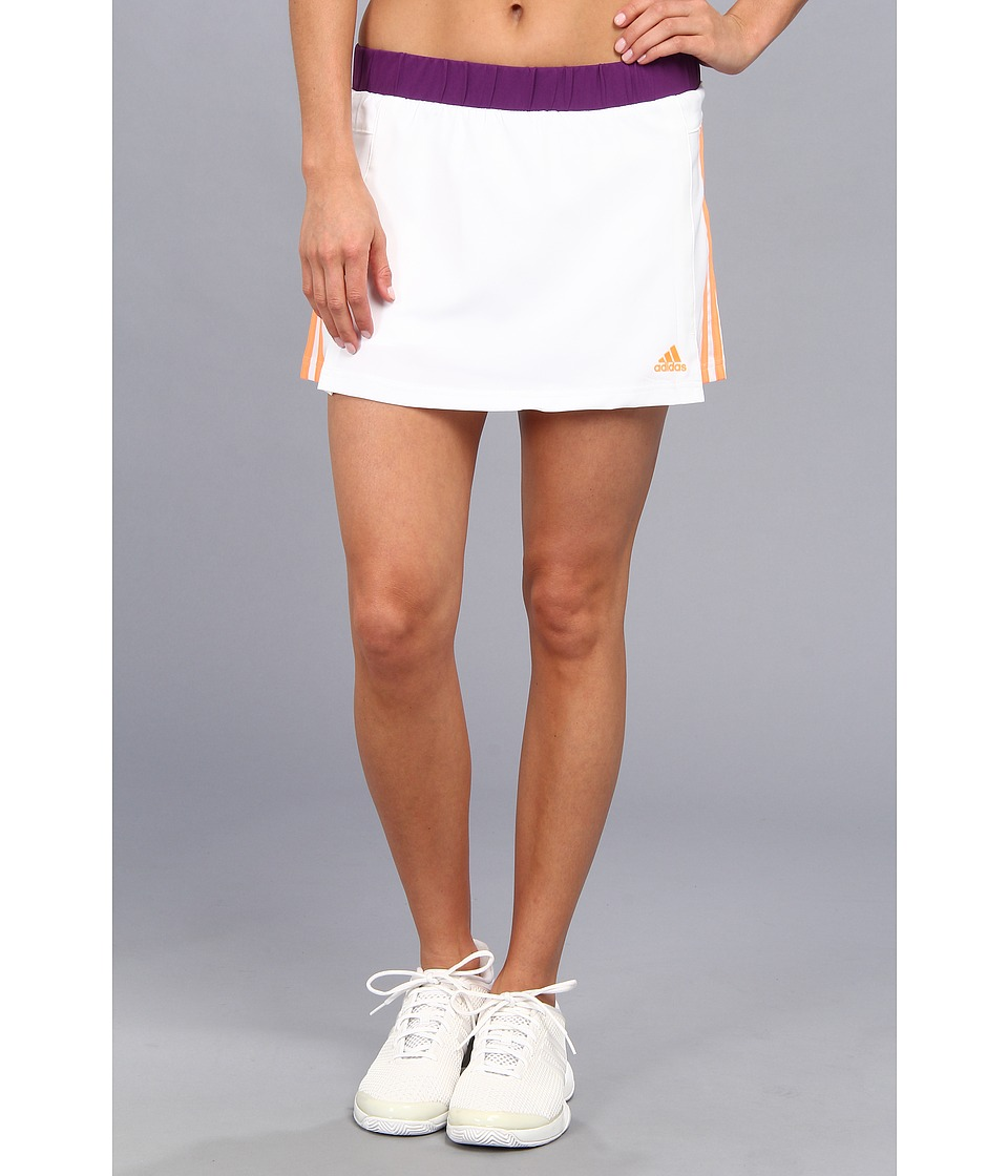 adidas - Response Skort (White/Glow Orange/Glow Purple) Women's Skort
