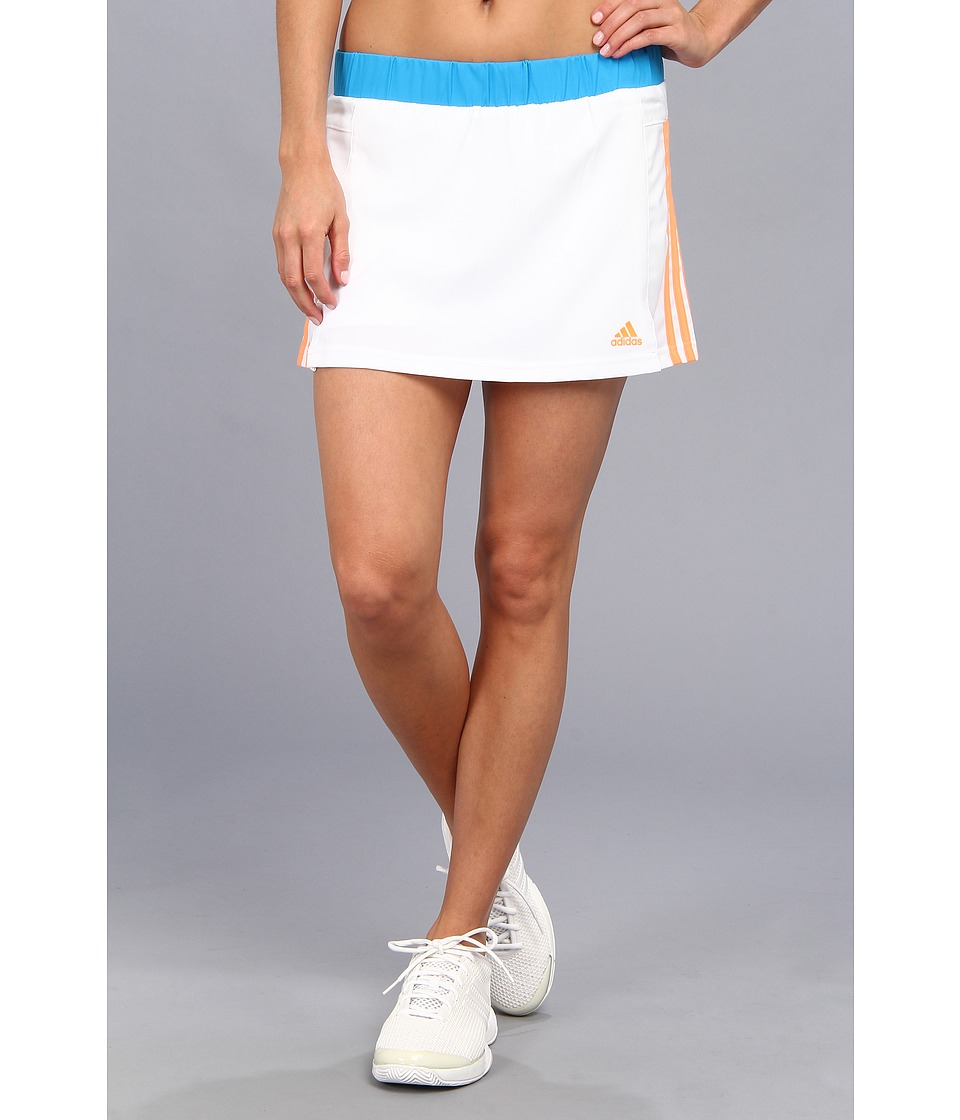 adidas - Response Skort (White/Glow Orange/Samba Blue) Women's Skort