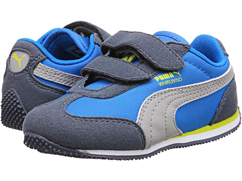 Puma Kids - Whirlwind V (Toddler/Little Kid/Big Kid) (Turbulence/French Blue/Limestone) Boys Shoes