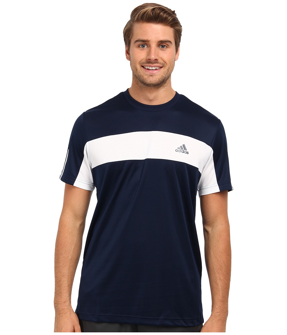 adidas - Tennis Sequencials Galaxy Tee (Collegiate Navy/White) Men