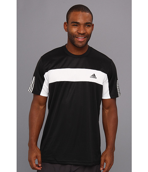 adidas - Tennis Sequencials Galaxy Tee (Black/White) Men's T Shirt