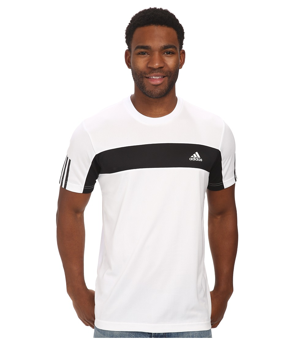adidas - Tennis Sequencials Galaxy Tee (White/Black) Men