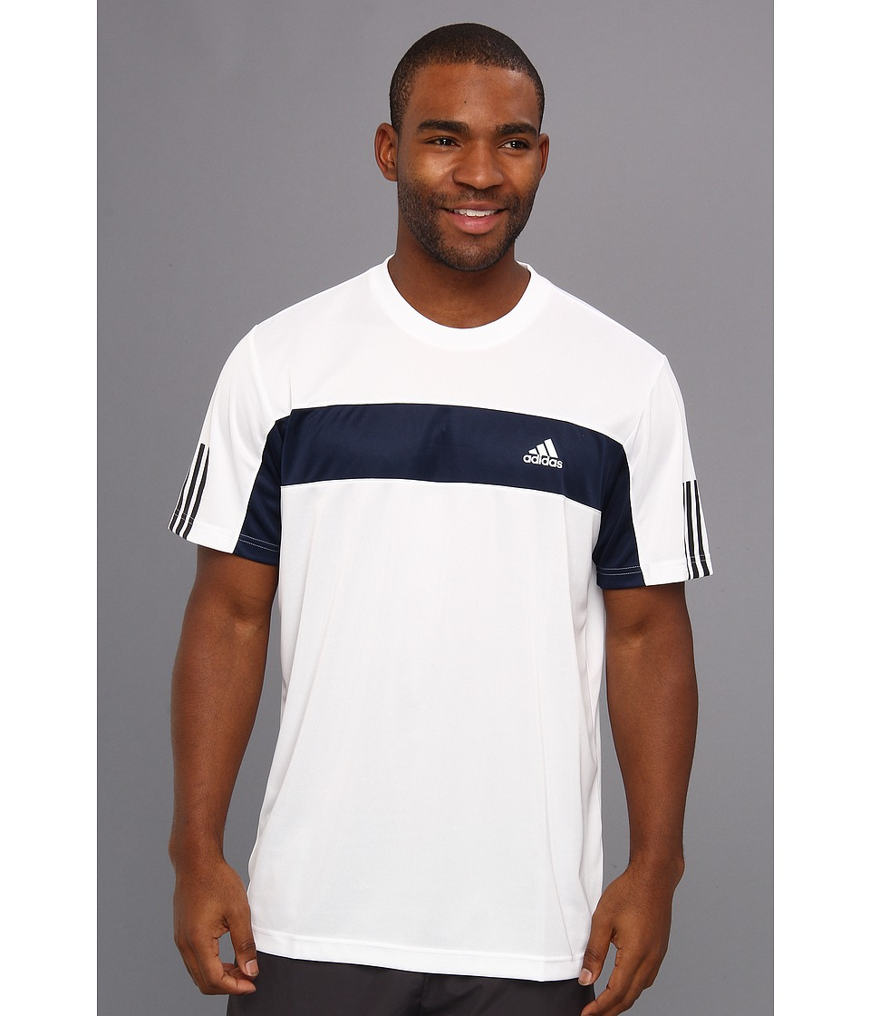 adidas - Tennis Sequencials Galaxy Tee (White/Collegiate Navy) Men's T Shirt