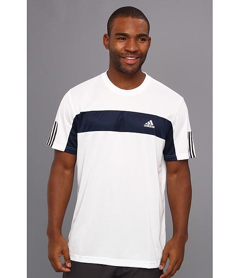 adidas - Tennis Sequencials Galaxy Tee (White/Collegiate Navy) Men's T Shirt
