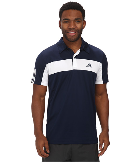 adidas - Tennis Sequencials Galaxy Polo (Collegiate Navy/White) Men