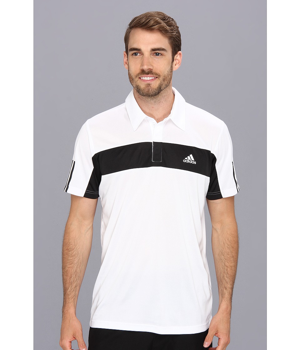 adidas - Tennis Sequencials Galaxy Polo (White/Black) Men