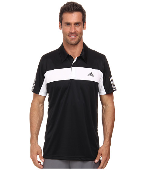 adidas - Tennis Sequencials Galaxy Polo (Black/White) Men